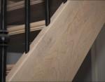 Trap van Europees Eiken met twee lagen greywash en een laag u/v bestendige lak